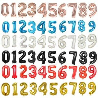 Foil Number Birthday Number Balloons Party different Colours & Sizes Melb Seller