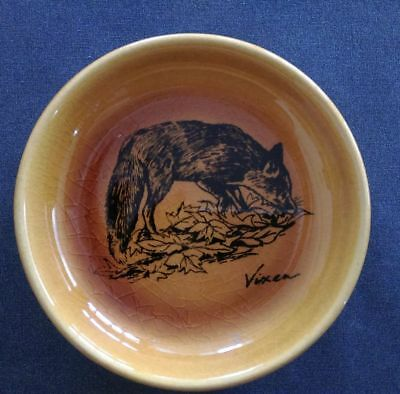 Toffee coloured Trinket Dish With Black Vixen