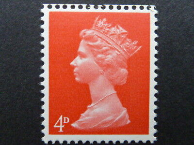 20fe]  GREAT BRITAIN  STAMP   QE 11 - 1967  4d  M/N/H    RIGHT PHOS BAND