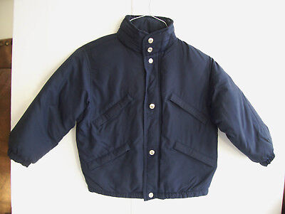 GAP Authentic DOWN Boys ( Size XS 4-5) Navy Blue Down Puffer Jacket ~ Buy it Now