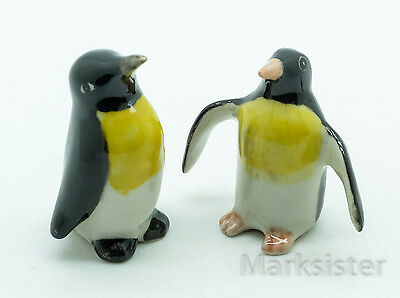 Figurine Animal Miniature Ceramic Statue 2 Penguin Bird - SBO005