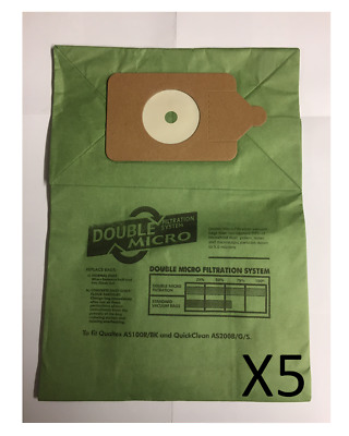 5 x Vacuum Cleaner Dust Bags For Numatic Henry Hoover HVR200A NVM1B & NVM1C/2