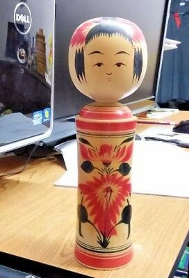 Vintage Japanese Kokeshi 8.5 Inches Tall Signed With Box
