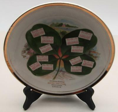 Antique Advertising Calendar Plate 1911 Central Shoe Store Broadway Lorain Oh