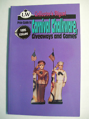 CHALKWARE PRICE $$ VALUE GUIDE COLLECTOR'S BOOK Statue Doll Animals Games + more