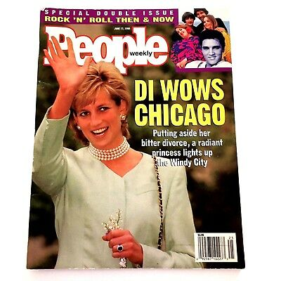 People Magazine Princess Diana June 17 1996 Di Wows Chicago Rock N Roll Than Now