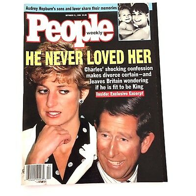 People Magazine Princess Diana Cover October 31 1994 He Never Loved Her