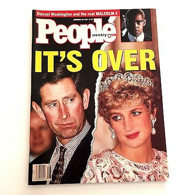 Princess Diana People Magazine Cover November 30, 1992 It's Over