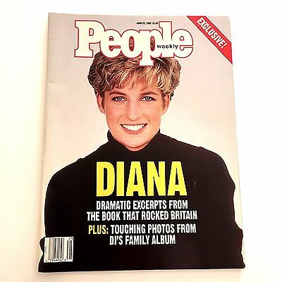Princess Diana People Magazine June 22 1992 Diana Dramatic Excerpts From Book