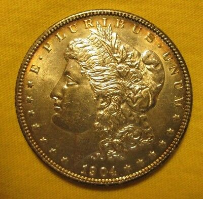 "1904-P Morgan Dollar ""rare Key Date"" Sparkling Frosty Very Choice Bu"