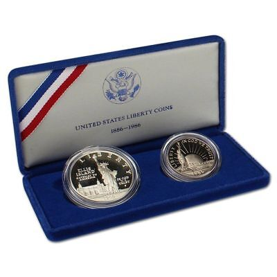 1986 Statue Of Liberty Silver Proof Commemorative Coin with OGP