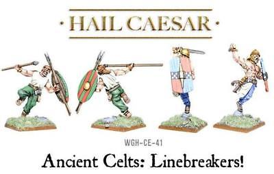 Ancient Celts: Linebreakers! (4) 28mm metal Warlord Games New!