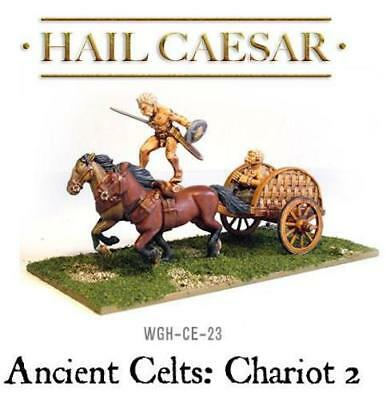 Ancient Celts: Chariot 2 (1) 28mm metal Warlord Games New!