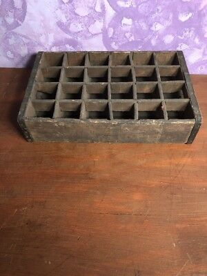 Rare Vintage Dunmore Bott Works Divided Wooden Box -Lettieri Bros Props