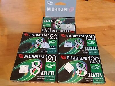 FUJIFILM P6-120 8mm Premium Camcorder Tape NEW lot of 5