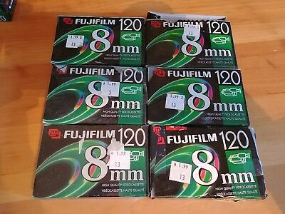 FUJIFILM P6-120 8mm Premium Camcorder Tape NEW damaged packaging - lot of 6