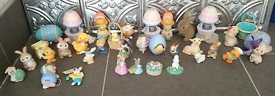 Hallmark Merry Miniatures & Ornament Lot Easter Spring - 4 Signed Anita Rogers