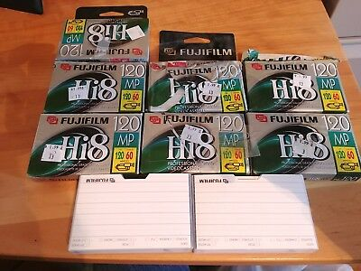 9 total New open Fujifilm Hi8 MP P6-120 Professional Grade Videocassette Tapes