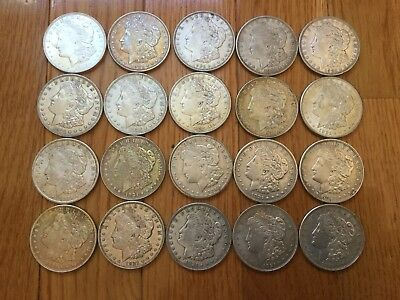 Roll Of 20 Higher Grade 1921 P D S Morgan Silver Dollars Lot $20 Face