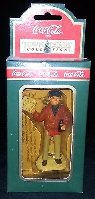 """Coca-Cola Coke Ornament Town Square Collection """"Extra, Extra Newsman"""""""