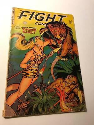 FIGHT COMICS #79 March 1952  Stalk Jungle Terrors with TIGER GIRL
