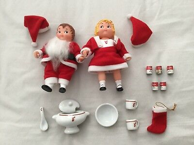 Vintage Campbells Soup Kids Doll Christmas Special Edition Santa Dollhouse