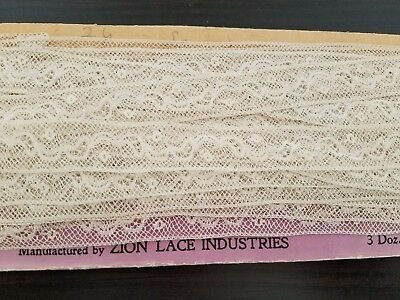 Antique Vintage Zion Lace on card~Beautiful~ 9+ yards