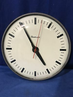 """13 1/2"""" Simplex Electric Slave School Wall Clock with Glass face FREE SHIPPING"""