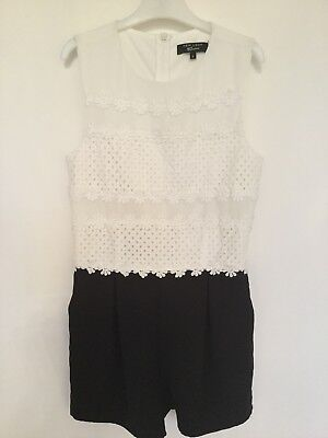 New Look Girls Playsuit Age 11 Black White BNWOT