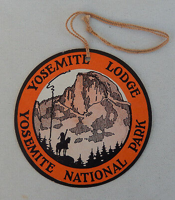 Vintage Yosemite Lodge Luggage Label (Yosemite National Park)