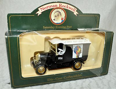 Norman Rockwell Cover Saturday Evening Post Die Cast 1926 Black Delivery Truck