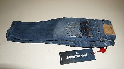 New True Religion Kids Blue Jean Baby Pants TR335JN160 w/Tags Crown Blue 18M