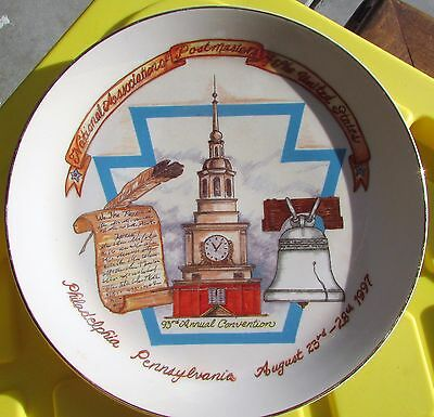 1997 93rd Annual Postmasters of the United States Plate- Philadelphia, PA