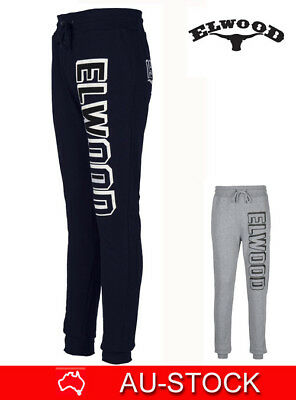 Elwood Mens Track Cuff Gym Pants Sport Jogger Trackies Casual Tapered Trousers
