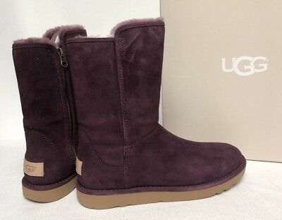 af4b0510623 UGG ABREE II Short Port Suede Shearling Zip Boots Size Us 6 7 8 Womens  1016589