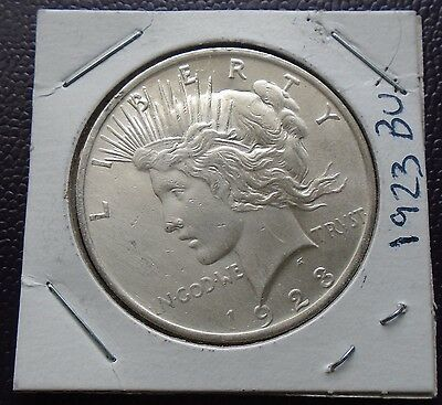 1923 $1 Peace Silver Dollar - Uncirculated - nice bright appearance and details!