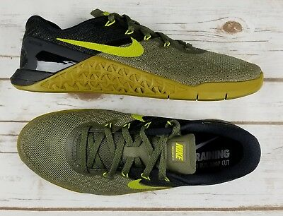 063d9e04e84f47 NIKE Metcon 3 Medium Olive Bright Cactus Training Shoe 852928 201 - Men 8  New