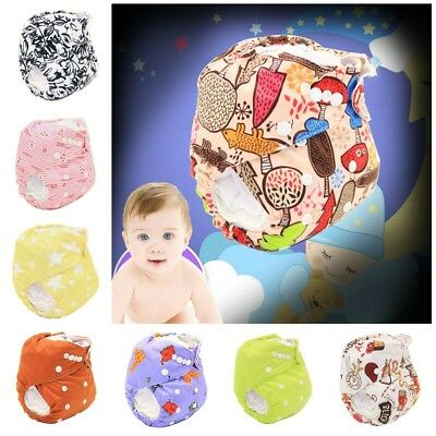 Washable Adjustable Baby Pocket Nappy Cool Pattern Reusable Diapers Covers Wrap