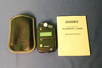 Sekonic Flashmate L-308B11 Exposure Meter with Case and Manual