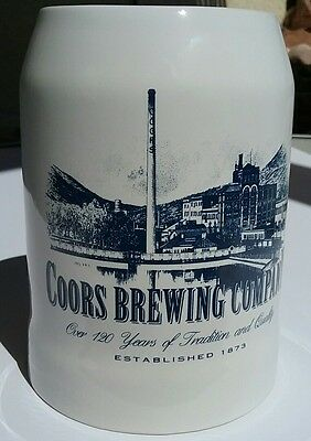 Coors Brewing Company Beer Stein Over 120 yrs tradition and quality .5 liter