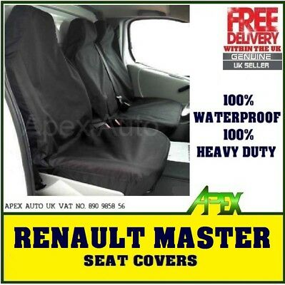 RENAULT MASTER Heavy Duty MAYFAIR LEATHER LOOK Van Seat Covers Single /& Double