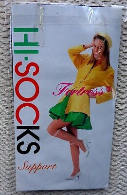 Hi-Socks Knee Highs with Support. Free Size BLACK Made in Japan