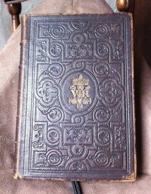 1861 FINE ORNAMENTAL ARTS by WILLIAM SCOTT - FINE LEATHER PRIZE BINDING - VGC +