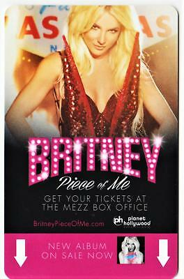 PLANET HOLLYWOOD casino***Britney Spears Early issue***las vegas hotel key card