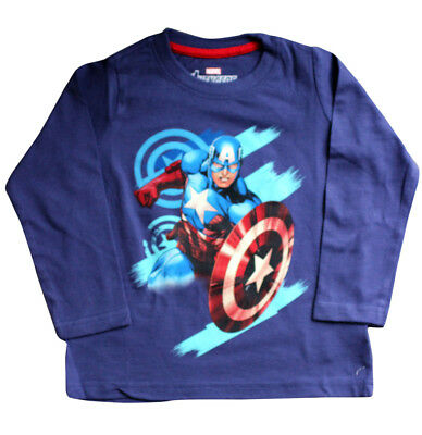Original Marvel Avengers Character Royal Blue Full Sleeves Boy's T-shirt Shirt