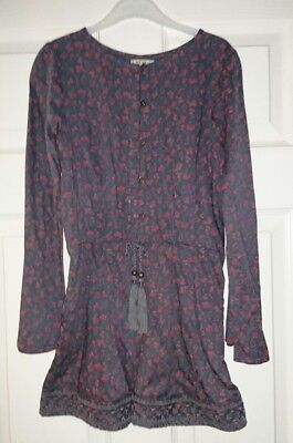 New With Tags! Next Girls Floral Long Sleeved Playsuit Age 8 Years