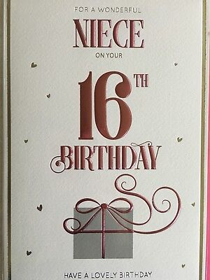 For A Wonderful Niece On Your 16th Birthday Card 289 Picclick Uk