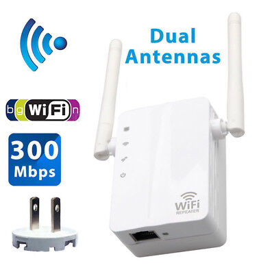 300Mbps Wifi Repeater Wireless 802.11 AP Router Extender Signal Booster Range