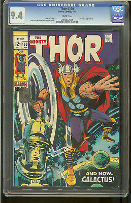 Thor 160 CGC 9.4 White Pages Galactus