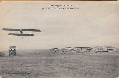 WWI ~ FRENCH AIRFORCE TAKING FLYING PRACTICE in SOUTHERN TUNISIA ~ 1917